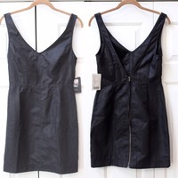Urban Outfitters Faux Leather Black Club Dress