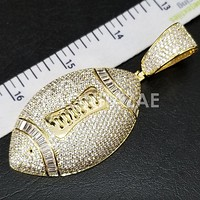 New Lab diamond Micro Pave JUMBO American Football Pendant.
