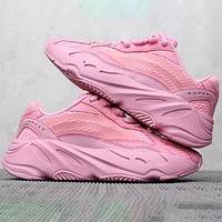 Adidas Yeezy Boost 500 Fashion New Desert Rat Women Men Sneakers Sport Shoes Pink
