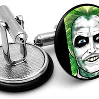 Beetlejuice Portrait Cufflinks
