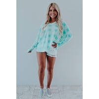 Act Casual Top: Mint/White