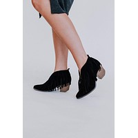 Sutton Fringe Bootie - Black