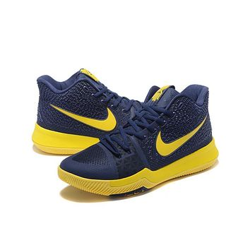 Nike Kyrie Irving 3 Navy/Yellow Basketball Shoe