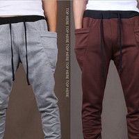 Mens Fashion Printed Casual Harem Sweat Pants Jogger Dance Taper Slacks Trousers = 1697284164