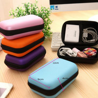 Travel Portable Data Line Earphone Wire Storage Box Organizer Data Line Cables Storage Container Case Earbuds SD Card Box