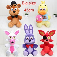 Big!!! 18'' Five Night At   plush toys Freddy Fazbear Nightmare Fredbear Foxy bonnie chica kids toys