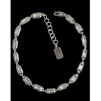 EMERALD ANKLET — silver