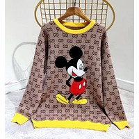 GUCCI Autumn and winter new knitted long-sleeved women's sweater