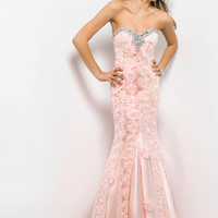 Mermaid Fitted Blush Prom Dress 9582