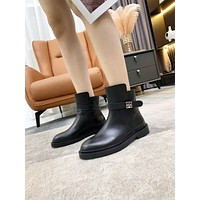 Givenchy2021  Trending Women's men Leather Side Zip Lace-up Ankle Boots Shoes High Boots07160gh