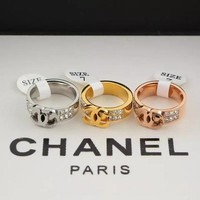 Solid Hot Sale Double Row Diamond Rings