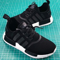 Adidas Nmd R1 Pk Boost Black White Sport Running Shoes - Best Online Sale