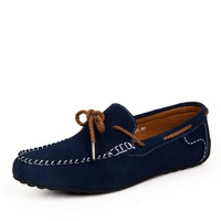 New 2016 Men's Luxury Drivers Loafers Suede Leather Fashion Blue Sperry Shoes Designer Moccasins For Men Summer Sapato Slip On