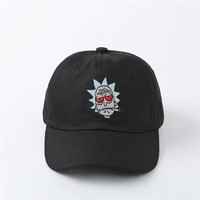 NEW Rick, Rick and Morty Baseball Hat Dad Hat Adjustable back strap Unisex dad hats Embroidered Dad Hat dad Cap