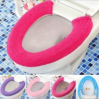 Soft Toilet Cover Seat Lid Pad Bathroom Closestool Protector