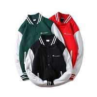 Champion autumn and winter new tide brand men and women models embroidery small baseball uniform jacket