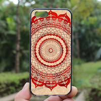 red gallery mandala,iphone 4 case,iPhone4s case, iphone 5 case,iphone 5c case,Gift,Personalized,water proof