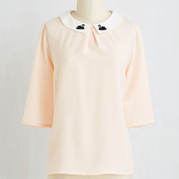 You're Swan in a Million Top   Mod Retro Vintage Short Sleeve Shirts   ModCloth.com