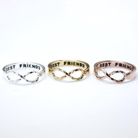 BEST FRIEND Infinity Ring in 3 colors