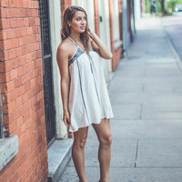 WEB EXCLUSIVE: Embroidered Halter Sundress