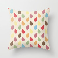 Colorful Teardrop Pattern Throw Pillow by Pati Designs