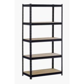 Edsal, 36 in. W x 18 in. D x 72 in. H Steel Commercial Shelving Unit, UR185L-BLK at The Home Depot - Mobile
