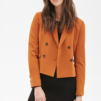 FOREVER 21 Double-Breasted Blazer Chestnut