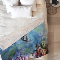 Ginette Fine Art Birds of the Ocean Fleece Throw Blanket