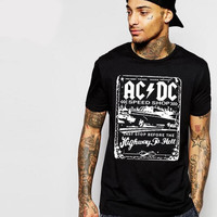 2017 New AC/DC band rock T Shirt Mens acdc Graphic T-shirts