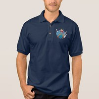 Bowling Wild Turkey With Ball And Pins Polo Shirt
