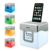 iHome® iP18W LED Color Changing Dual Alarm Clock Speaker System for iPod®/iPhone® - Bed Bath & Beyond