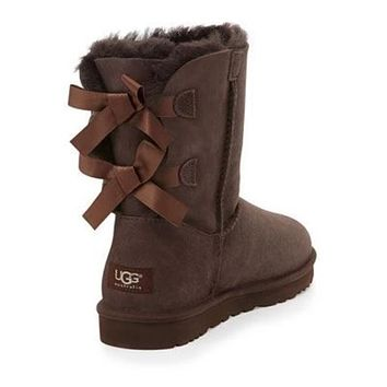 UGG:: bow leather boots boots in tube-12