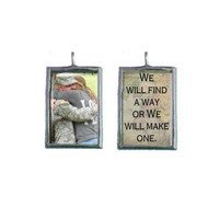 LDR We will find a way or We will make one  Custom Photo Pendant Long Distance Relationship DEPLOYMENT CHARM