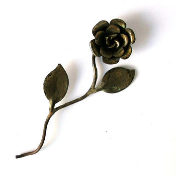 Vintage Flower, Metal Decor, Antique Iron