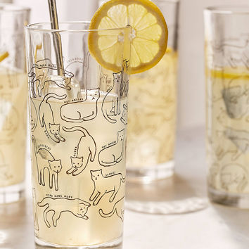 Kitty Highball Glasses Set | Urban Outfitters