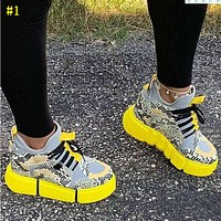 New sports style flat bottom lace casual shoes large size women's shoes