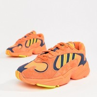 adidas Originals Yung-1 Trainers In Orange at asos.com