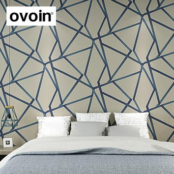 Metallic Triangle Geometric Modern Design Wall Paper Home Decor Wallpaper For Walls Roll Bedroom Living Room Hallway Wall Cover