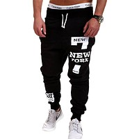 Joggers Trousers Men Pants Casual  Pants Sweatpants Jogger Black