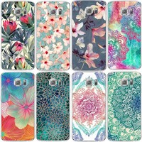 Beautiful Flora Phone Case For Samsung Galaxy S3 S4 S5 S6 S7 Edge S8 Plus J3 J5 A3 A5