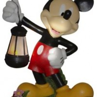 Woods International 4021 Mickey Mouse Holding Lighted Lantern, 15-Inch by 11.375-Inch by 7.625