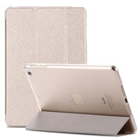Smart Wake Luxury Clear Silk Leather Case For iPad Mini 2 3 Air 5 Stand Function Cover Pouch Deluxe Ultra thin Slim Transparent