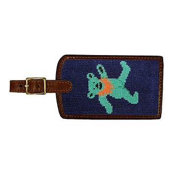 Dancing Bear Needlepoint Luggage Tag by Smathers & Branson