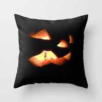 scary pumkin Throw Pillow by Alice C.   Society6