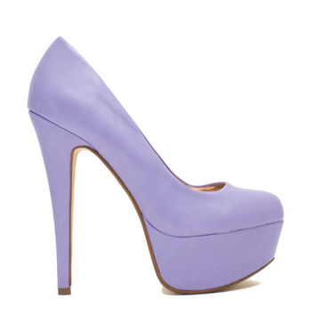 Love At First Faux Leather Stiletto Heels GoJane.com