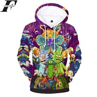 LUCKYFRIDAYF Rick And Morty Hoodies 3D Print Women/Men Sweatshirts Anime Style Men/Women Hoodies Sweatshirt Casual Clothes 4XL