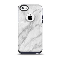 The White Marble Surface Skin for the iPhone 5c OtterBox Commuter Case