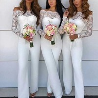 J'adore wedding white lace jumpsuit