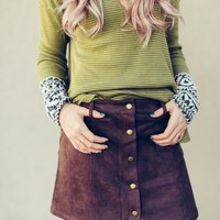 Sueded Mini Skirt