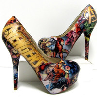 Avengers Comic Book High Heels - Made to Order